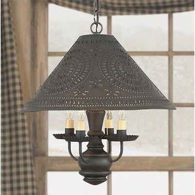 Homespun Country Kitchen Chandelier Shade Light in Black