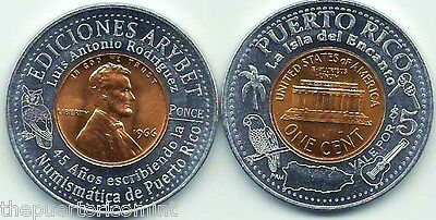 2012 Set 5 ARYBET PUBLISHING PONCE Puerto Rico Encased Anillado Lucky Penny lot