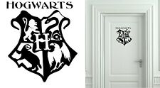 HARRY POTTER HOGWARTS COAT OF ARMS CUT VINYL WALL ART STICKER /  DECAL