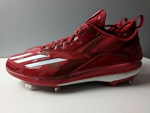 Details about Brand New Adidas Boost Icon 2.0 Metal Baseball Cleats RedWhite Men's Size 12.5