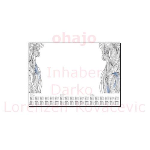 595 x 410 mm 30 Blatt mit 3-Jahres-Kalendarium sigel Papier-Schreibunterlage