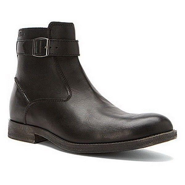 Clarks Para hombre botas Goby Top Vestido De Cuero Negro 67476 M US