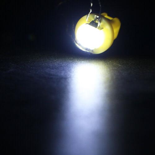 10Pcs B8.5D 1SMD COB LED Bulbs Dashboard Cluster Gauge Side Indicator Lights 12V
