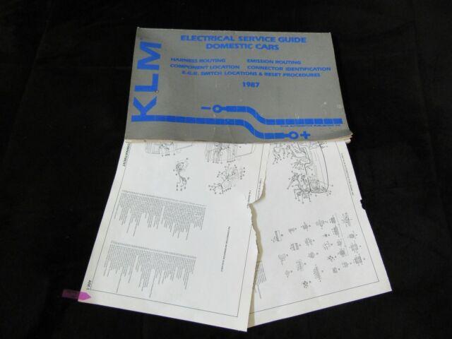 1987 Buick Regal Chevrolet Monte Carlo Wiring Diagrams
