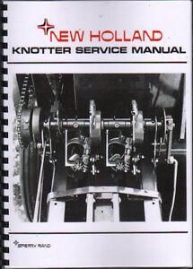 new holland pick up baler knotter service manual book ebay rh ebay co uk Paper Mill Knotter Knotter Fan