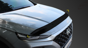 Acrylic Bonnet Hood Guard Garnish Deflector D-622 Blk for Hyundai Santa Fe 2019