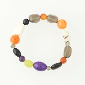 New-Multi-Color-Gemstone-Bracelet-Beaded-Stretch-Band-Adjustable-Pull-Over
