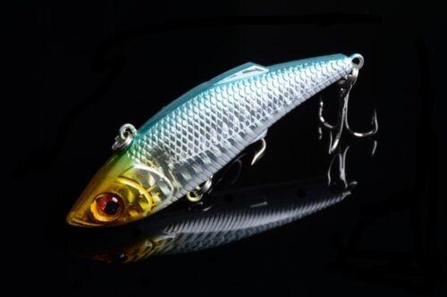 1pc VIB  Fishing tackle 8cm//11.8g peche Wobbler Lure baits bass Hook NEW