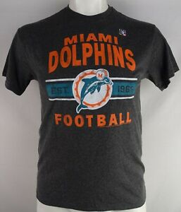 Miami-Dolphins-NFL-Junk-Food-Men-039-s-Line-Gray-Short-Sleeve-T-Shirt