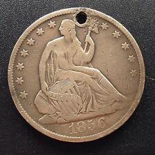 USA 1856 o seated Liberty HALF DOLLARO 50 cent NEW ORLEANS ARGENTO RARO 2167