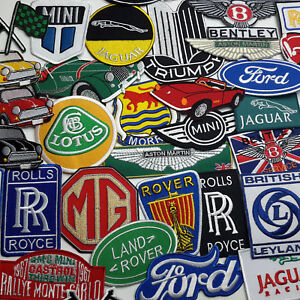 034-BRITISH-CAR-MARQUES-034-PATCH-SHOP-40-Designs-UK-Seller-Fast-amp-Free-Post