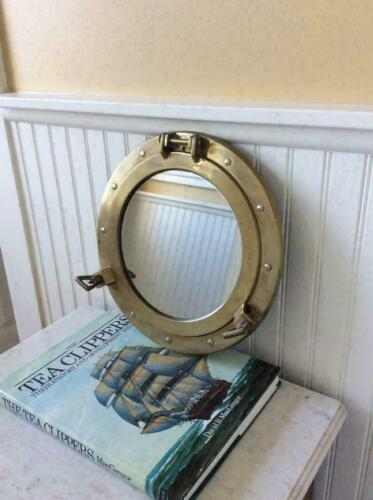 "12/""~ Antique Porthole ~Nautical Decor Porthole Mirror Ship FinishPorthole Cabin"