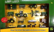 1/64 Scale Ertl 16 Pc. Playset Tractors, Animals & Fencing Age 5+ LP64813