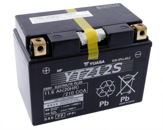 Batterie YUASA YTZ12S YAMAHA TMAX 530,XT1200,Honda Spacy 125,Forza,NS250,SH300