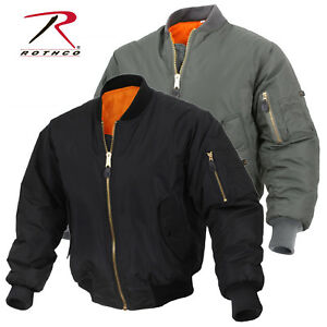 8dab527e1 Details about Enhanced Nylon Reversible MA-1 Flight Jacket - Black or Sage  Green Bomber