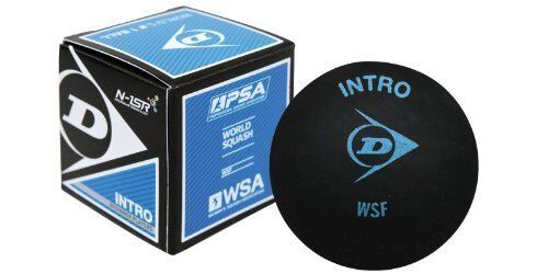Dunlop Pro Squash Balls Double Dot Yellow /& Intro Bue /& Red Progress Competition