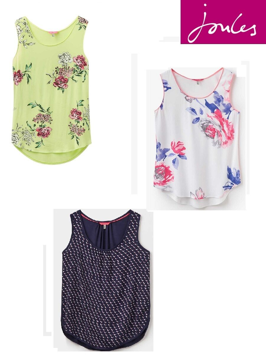 Joules Ladies Iris Woven Vest Top - Sizes