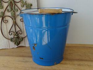 U2981-Enamel-Bucket-Shabby-Chic-Email-Approx-10-Litre-Blue