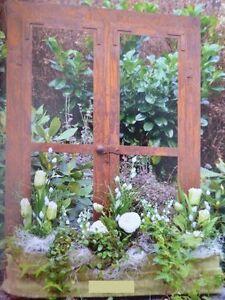 Edelrost Fenster Flugel Gross Deko Garten Metall Eisen Terrasse