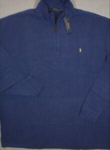 Polo-Ralph-Lauren-Sweater-French-Rib-Half-Zip-Pullover-Blue-4XLT-NWT-125