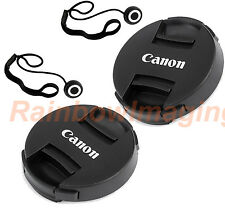 2 x 58mm Snap-On Front Lens Cap Keeper for Canon 18-55mm Lens