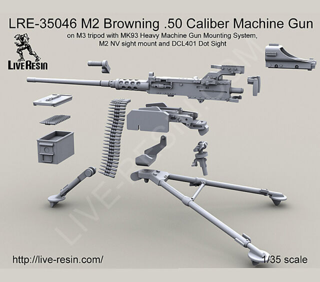 live resin lre35046 1 35 m2 browning 50 cal machine gun m3 tripod w