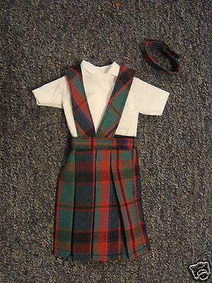 *NIP* 3 pc SCHOOL UNIFORM Dress Jumper Clothes Outfit fits Barbie doll PLAID #80
