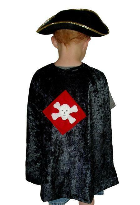 Little Adventures boys pirate cape pretend play dress-up halloween Costume  NEW
