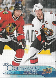 2016-17-Upper-Deck-UD-CANVAS-Hockey-Insert-Cards-U-PICK
