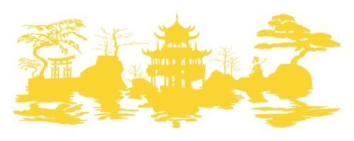 highest quality wall decal sticker Asian Harmony Landscape