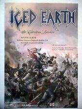 """PUBLICITE-ADVERTISING :  ICED EARTH  2004 pour la sortie de """"The Glorious Burden"""