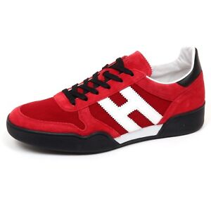 Image is loading E9802-sneaker-uomo-red-black-HOGAN-H357-scarpe- fdb600e36ea