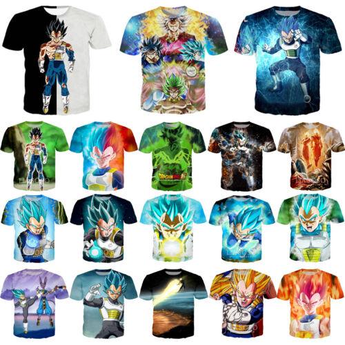 Anime Dragon Ball Print Casual 3D T-Shirt Women Men Short Sleeve Tops Tee Gift