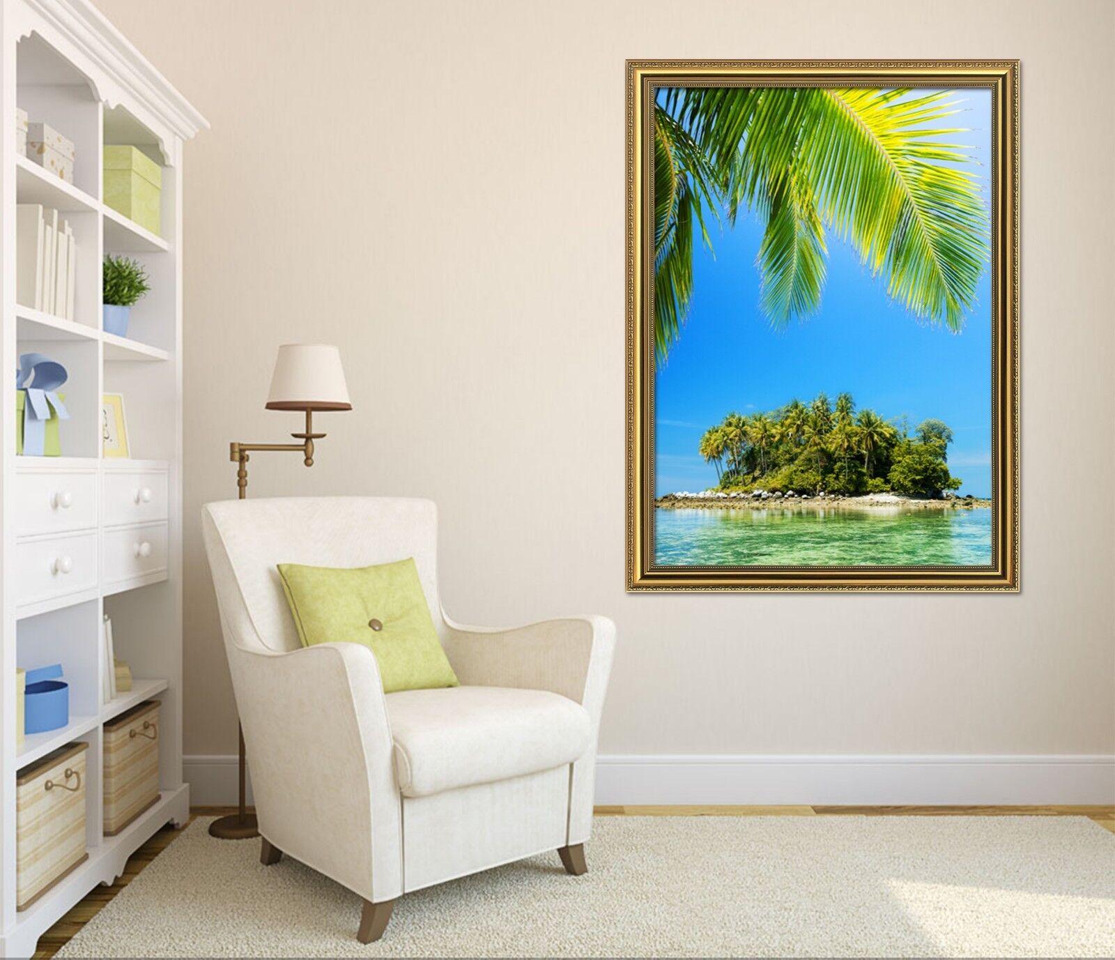 3D pequeña isla 51 Enmarcado Póster Decoración del Hogar Pintura de Impresión Arte AJ