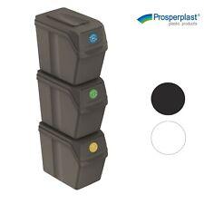 Juego de 3 cubos de reciclaje varios colores 20 L para facilitar...