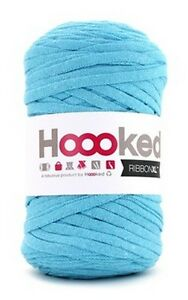 Hoooked-RibbonXL-120M-Cotton-Yarn-Knitting-Crochet-Sea-Blue