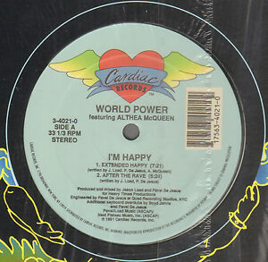 WORLD-Power-Feat-ALTHEA-MCQUEEN-I-039-M-Happy-1991-Cardiac-Records-3-4021-0-USA