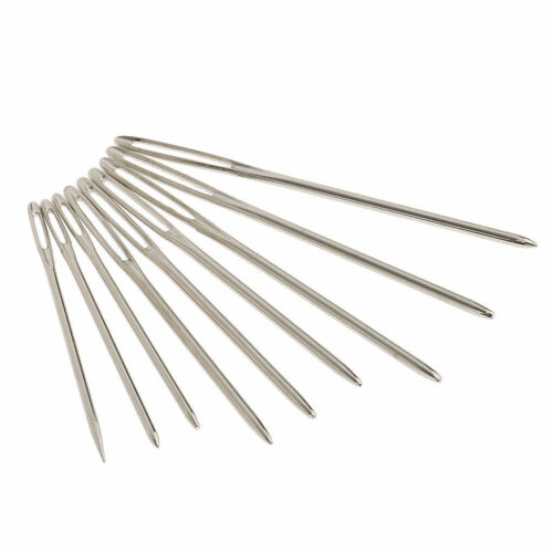 9 Stück Stopfnadel Nähnadel Sticknadeln Große Augen Nadeln für Handwerk