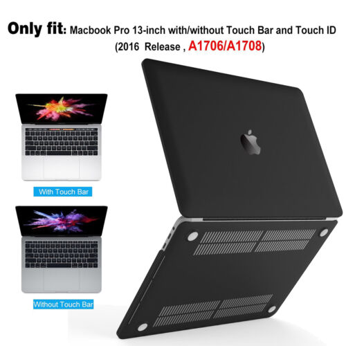 MacBook Pro 13 15 see-thru Smartshell Case Clear Black Cover Shell Anti-Scratch