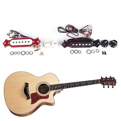 guitar sound hole pickup prewired wiring harness for 4 6 string cigar box odhn ebay. Black Bedroom Furniture Sets. Home Design Ideas
