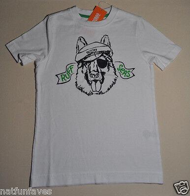 Gymboree boy ruff seas tee shirt size 7 NWT top boys short sleeve white