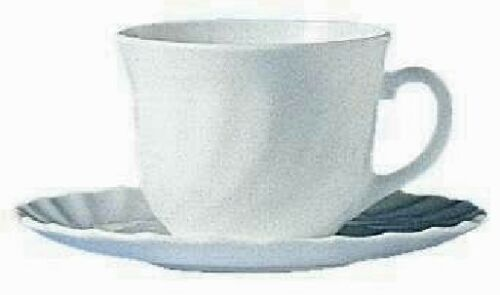 12 Kaffeetassen  Arcopal  22cl mt Untere TRIANON  Arcoroc