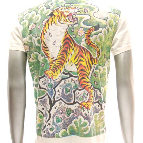 w8 M L XL Japanese Irezumi Tattoo VNECK T-shirt Tiger Geisha Hannya Mask Demon
