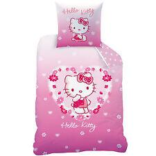 Hello Kitty Wende Bettwäsche Kissenbezug 80 x 80 cm Bettbezug 135 x 200 cm