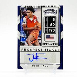 2020-21 Panini Contenders DP Basketball Prospect Ticket Auto #5 Josh Hall RC