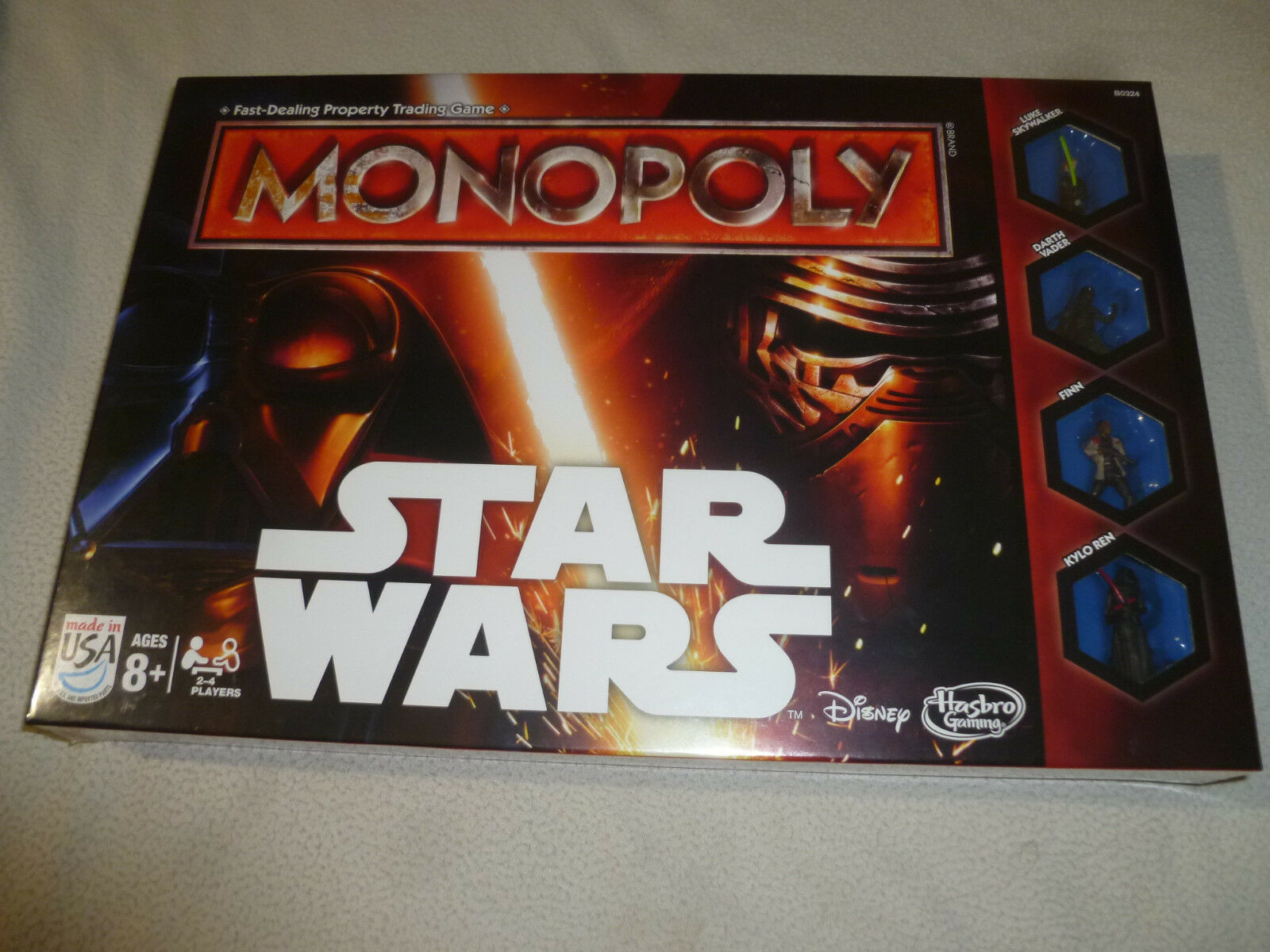 New monopoly star wars force awakens board game parker brothers 2015 kylo ren