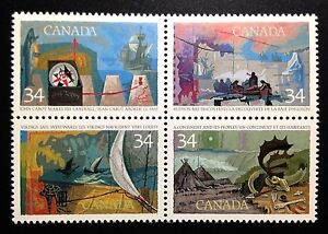 Canada-1104-1107a-MNH-Exploration-of-Canada-034-1-034-Block-of-Stamps-1986