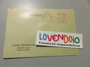 Alemania Historia Postal Busta Ordinario Shipped 1961 Mecánica Rojo