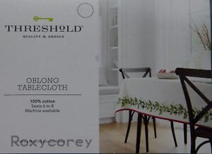 Details About Christmas Threshold Holiday Holly Berries Greenery 70x70  Square Tablecloth NWT