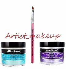 Mia Secret Acrylic Nail Powder White + Clear 2 oz + Kolinsky Brush# 4OR
